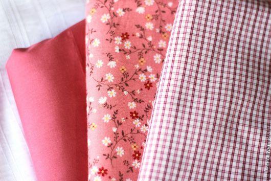 Шитье ручной работы. Ярмарка Мастеров - ручная работа. Купить Набор тканей Темно-розовый. Handmade. Ткань для рукоделия, ткань