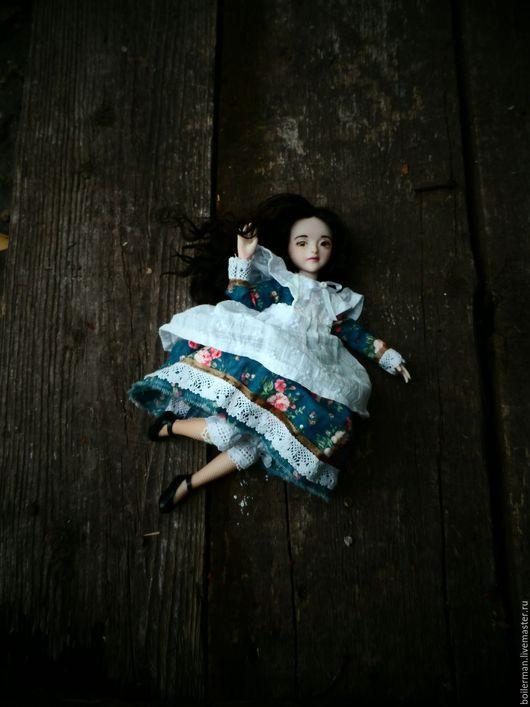 """Коллекционные куклы ручной работы. Ярмарка Мастеров - ручная работа. Купить Кукла """"Амалия"""". Handmade. Синий, купить подарок, хлопок"""