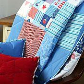 """Для дома и интерьера ручной работы. Ярмарка Мастеров - ручная работа Комплект текстиля """"Морской - 6"""". Handmade."""
