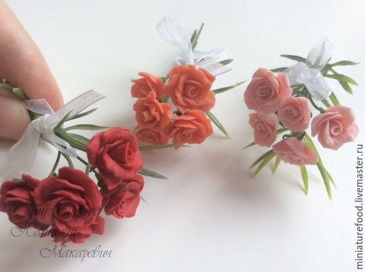 Цветы для кукол. Розы для кукольного дома. Украшение кукольного домика. Цветы для кукольного интерьера. Цветы ручной работы для кукол.