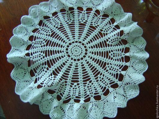 Текстиль, ковры ручной работы. Ярмарка Мастеров - ручная работа. Купить вязанная салфетка. Handmade. Белый, салфетка крючком