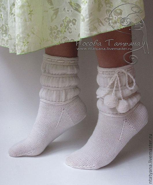 Носки, Чулки ручной работы. Ярмарка Мастеров - ручная работа. Купить Носки Неженка. Handmade. Носки, носки теплые