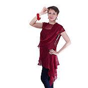 Одежда ручной работы. Ярмарка Мастеров - ручная работа Барбарис Туника в стиле бохо Летнее платье из льна. Handmade.