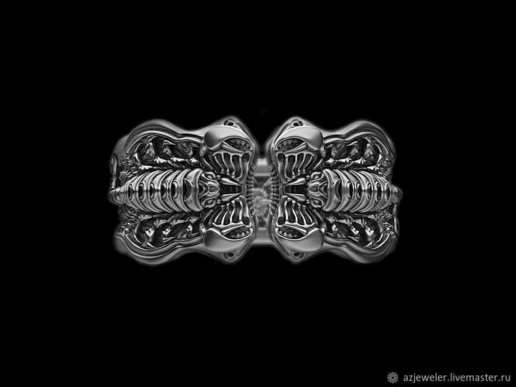 Кольцо скорпион 1 (артикул 321), Кольцо-печатка, Москва,  Фото №1