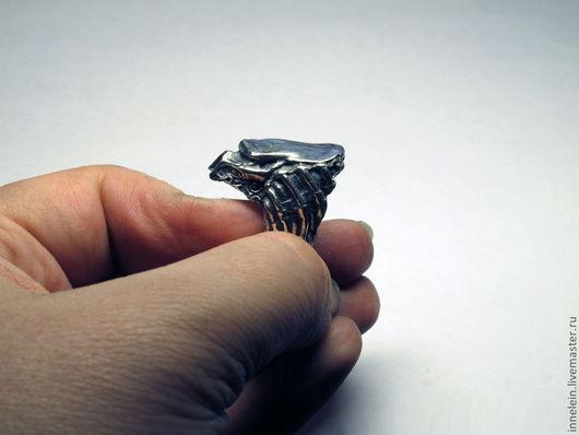 """Кольца ручной работы. Ярмарка Мастеров - ручная работа. Купить Серебряное кольцо """"Хищник"""". Handmade. Серебряный, чужой и хищник"""