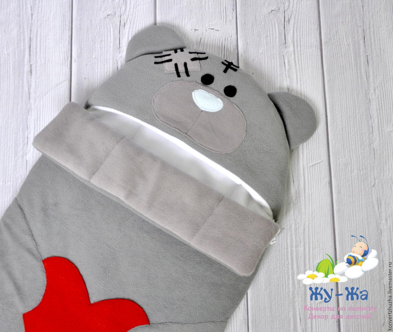 """Конверт на выписку для новорожденного """"Мишка Тедди"""" демисезон, Конверты на выписку, Новосибирск, Фото №1"""