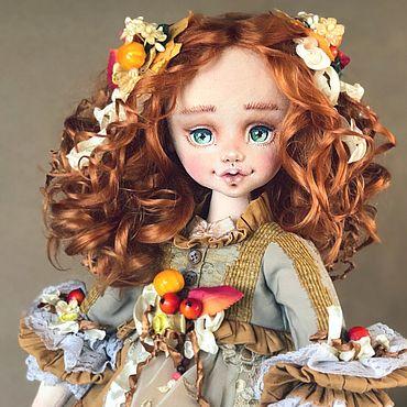 Dolls & toys handmade. Livemaster - original item Dina. Author`s textile doll collectible.. Handmade.