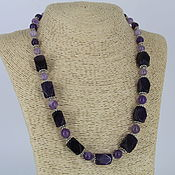 Украшения handmade. Livemaster - original item Necklace of natural stones amethyst