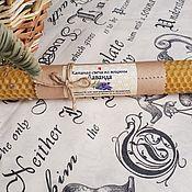 Сувениры и подарки handmade. Livemaster - original item Candle from wax with lavender, 20cm. Handmade.