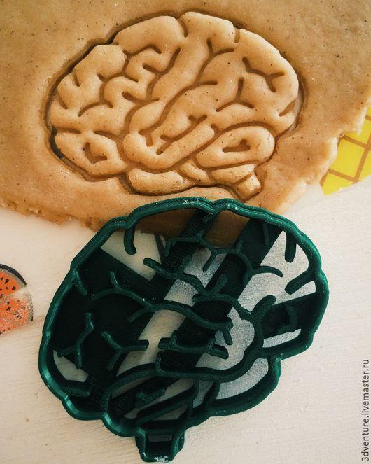 Кухня ручной работы. Ярмарка Мастеров - ручная работа. Купить Форма для пряников и печенья Мозг. Handmade. Разноцветный, формочка для печенья