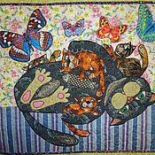 """Для дома и интерьера ручной работы. Ярмарка Мастеров - ручная работа Панно """" Кошка с котятами"""". Handmade."""