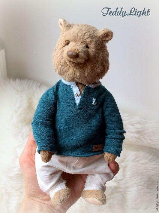 Мишки Тедди ручной работы. Ярмарка Мастеров - ручная работа. Купить Миша. Handmade. Бежевый, мишка в одежке, авторская игрушка