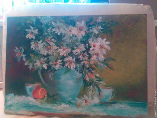 Картины цветов ручной работы. Ярмарка Мастеров - ручная работа. Купить Букет белых цветов. Handmade. Мятный, нежный букет