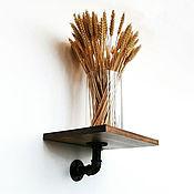 Полки ручной работы. Ярмарка Мастеров - ручная работа Настенная полка из дерева и труб в стиле Лофт. Handmade.