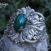 Украшения handmade. Livemaster - original item Bracelet silver For Inna, green Chrysoprase, emerald. Handmade.