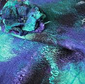 """Аксессуары ручной работы. Ярмарка Мастеров - ручная работа Бактус и брошь """"Полярное сияние"""". Handmade."""