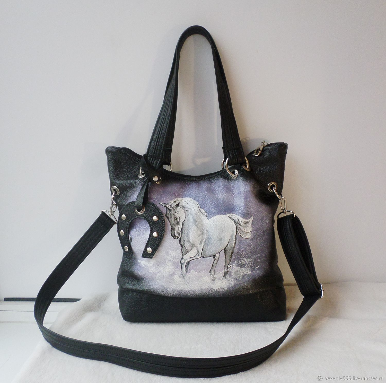 Leather bag with custom painting for Natasha, Classic Bag, Noginsk,  Фото №1
