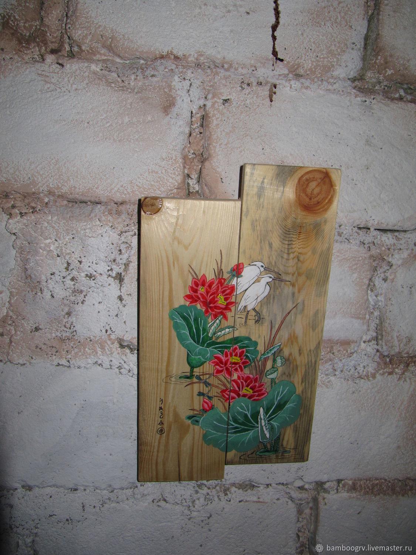 Картина цапли и лотосы, Аксессуар, Севастополь,  Фото №1