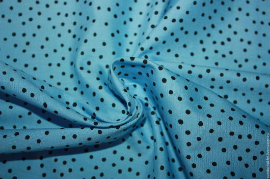 """Шитье ручной работы. Ярмарка Мастеров - ручная работа. Купить Хлопок """"Голубой в крапинку"""". Handmade. Голубой, ткань, ткани для рукоделия"""