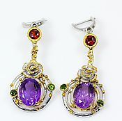Украшения handmade. Livemaster - original item Silver earrings with amethyst. Handmade.