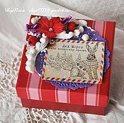Подарки к праздникам ручной работы. Ярмарка Мастеров - ручная работа Коробочка для подарка новогодняя. Handmade.