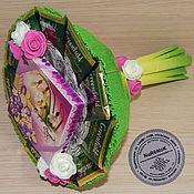 """Съедобные букеты ручной работы. Ярмарка Мастеров - ручная работа Букет из чая и конфет """"Весна идёт!"""". Handmade."""