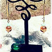 """Украшения ручной работы. Ярмарка Мастеров - ручная работа Серьги """"Мятный персик"""". Handmade."""