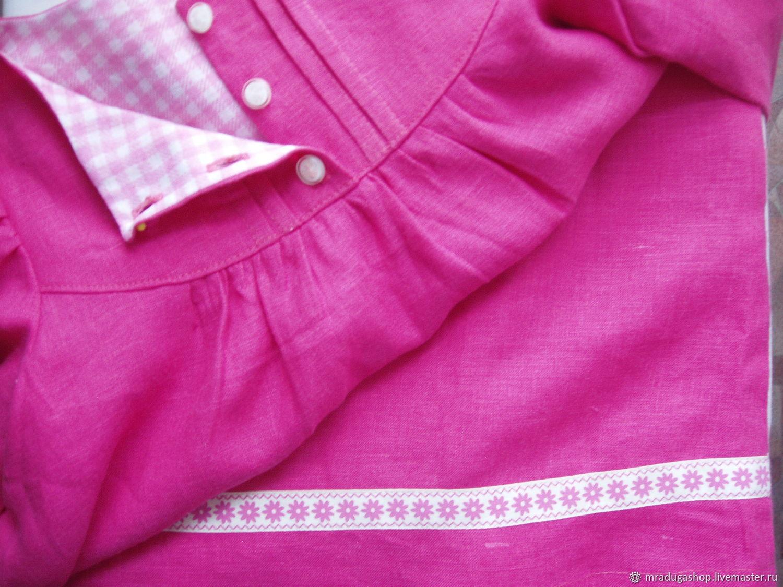 """Платье льняное """"Розовое счастье"""""""