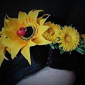 """Украшения ручной работы. Ярмарка Мастеров - ручная работа Ободок """"Летние цветы"""". Handmade."""