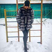 Одежда ручной работы. Ярмарка Мастеров - ручная работа Полушубок из чернобурки 7/8. Handmade.