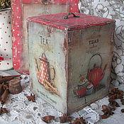 """""""Teas and coffes 1960.."""" Короб и досочка."""