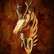 Для дома и интерьера ручной работы. Ярмарка Мастеров - ручная работа Голова косули из дерева с рогами. Handmade.