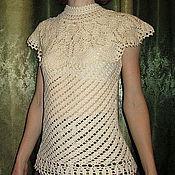 Одежда ручной работы. Ярмарка Мастеров - ручная работа Топ Белый шоколад. Handmade.