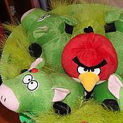 """Подарки к праздникам ручной работы. Ярмарка Мастеров - ручная работа """"Может там у них гнездо?!""""  Букет из игрушек. Handmade."""