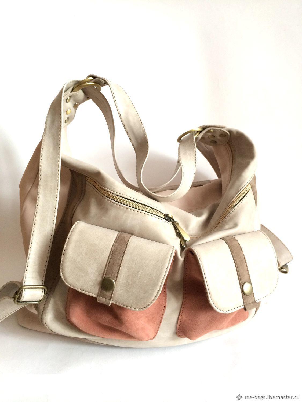 Massandra backpack bag. Beige and pink, Classic Bag, St. Petersburg,  Фото №1