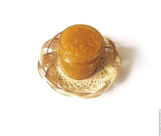 Скраб ручной работы. Ярмарка Мастеров - ручная работа. Купить Апельсиновое удовольствие скраб сахарный (гидрофильный скраб). Handmade. Оранжевый