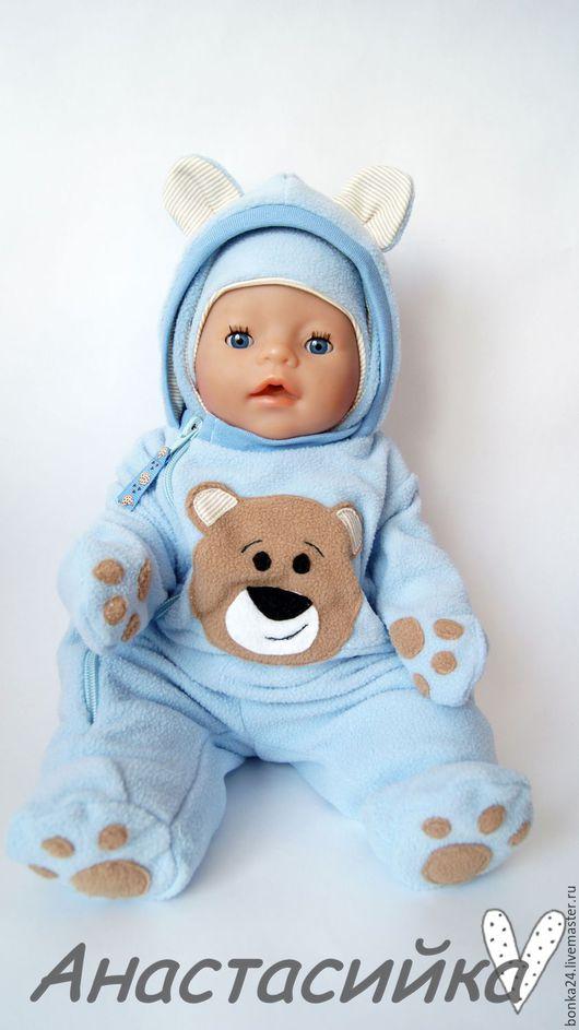 """Одежда для кукол ручной работы. Ярмарка Мастеров - ручная работа. Купить Комбинезон для Беби Бон """"Мишутка"""". Handmade. Голубой"""
