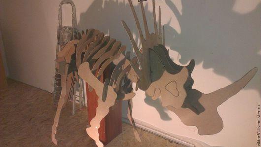 Игрушки животные, ручной работы. Ярмарка Мастеров - ручная работа. Купить Игрушка-динозавр 3Д, пазл. Handmade. 3д динозавр