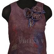 """Одежда ручной работы. Ярмарка Мастеров - ручная работа Валяный топ """"Lilac"""". Handmade."""