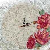 Для дома и интерьера ручной работы. Ярмарка Мастеров - ручная работа Часы настенные Цветочный сад. Handmade.