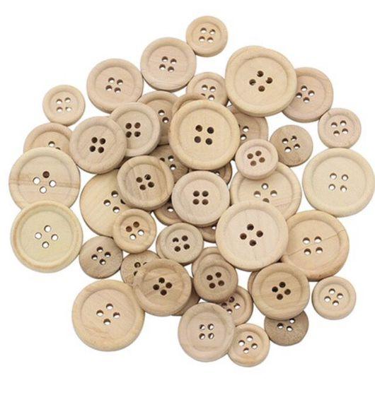 Шитье ручной работы. Ярмарка Мастеров - ручная работа. Купить Пуговицы деревянные эко. Handmade. Пуговица, пуговицы для игрушек