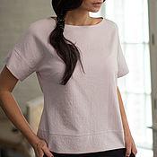 """Одежда handmade. Livemaster - original item Блуза из летней креповой шерсти """"Пыльная роза"""". Handmade."""