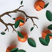 Декор ручной работы. Ярмарка Мастеров - ручная работа Мандарины из бумаги . Декор. Handmade.
