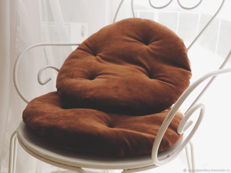 Chocolate decorative velour pillow, Pillow, Kharkiv,  Фото №1