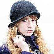 """Аксессуары ручной работы. Ярмарка Мастеров - ручная работа Шляпа """"Силуэт"""" из шерсти. Handmade."""