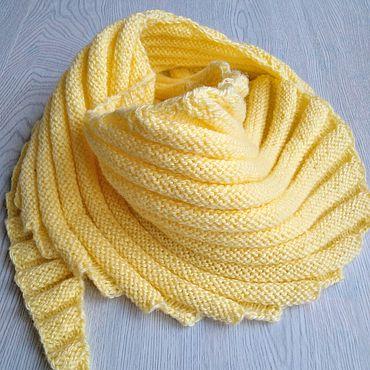 Clothing handmade. Livemaster - original item Scarf baby Bacchus-breakwater light yellow. Handmade.