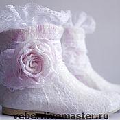 """Обувь ручной работы. Ярмарка Мастеров - ручная работа Сапожки """"Свадебные"""". Handmade."""