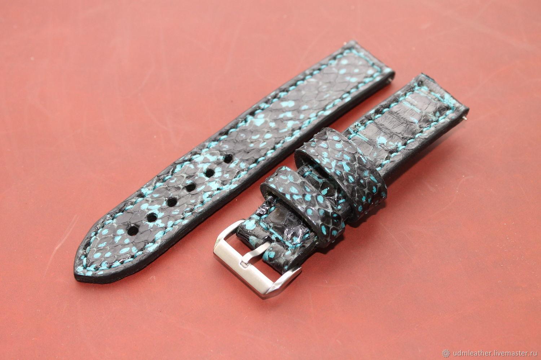 Hand made watch strap 22 mm / Apple Watch, Watch Straps, Izhevsk,  Фото №1