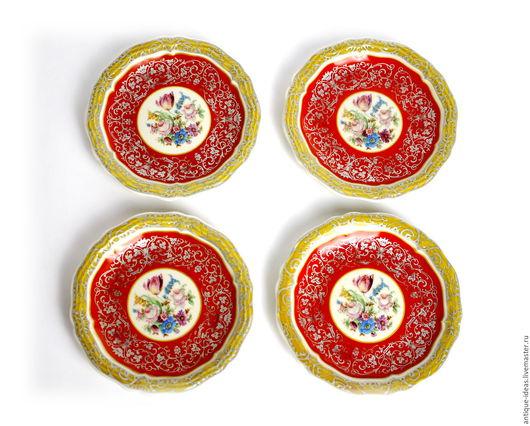 Винтажная посуда. Ярмарка Мастеров - ручная работа. Купить 1943 - 48 Rosenthal Блюдца-розетки 4 шт. Серия Chippendale. Handmade.