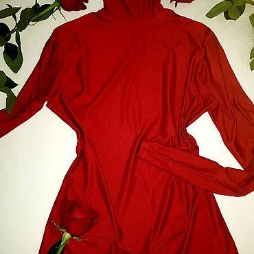 Одежда ручной работы. Ярмарка Мастеров - ручная работа Водолазка насыщенного темно-красного цвета. Handmade.